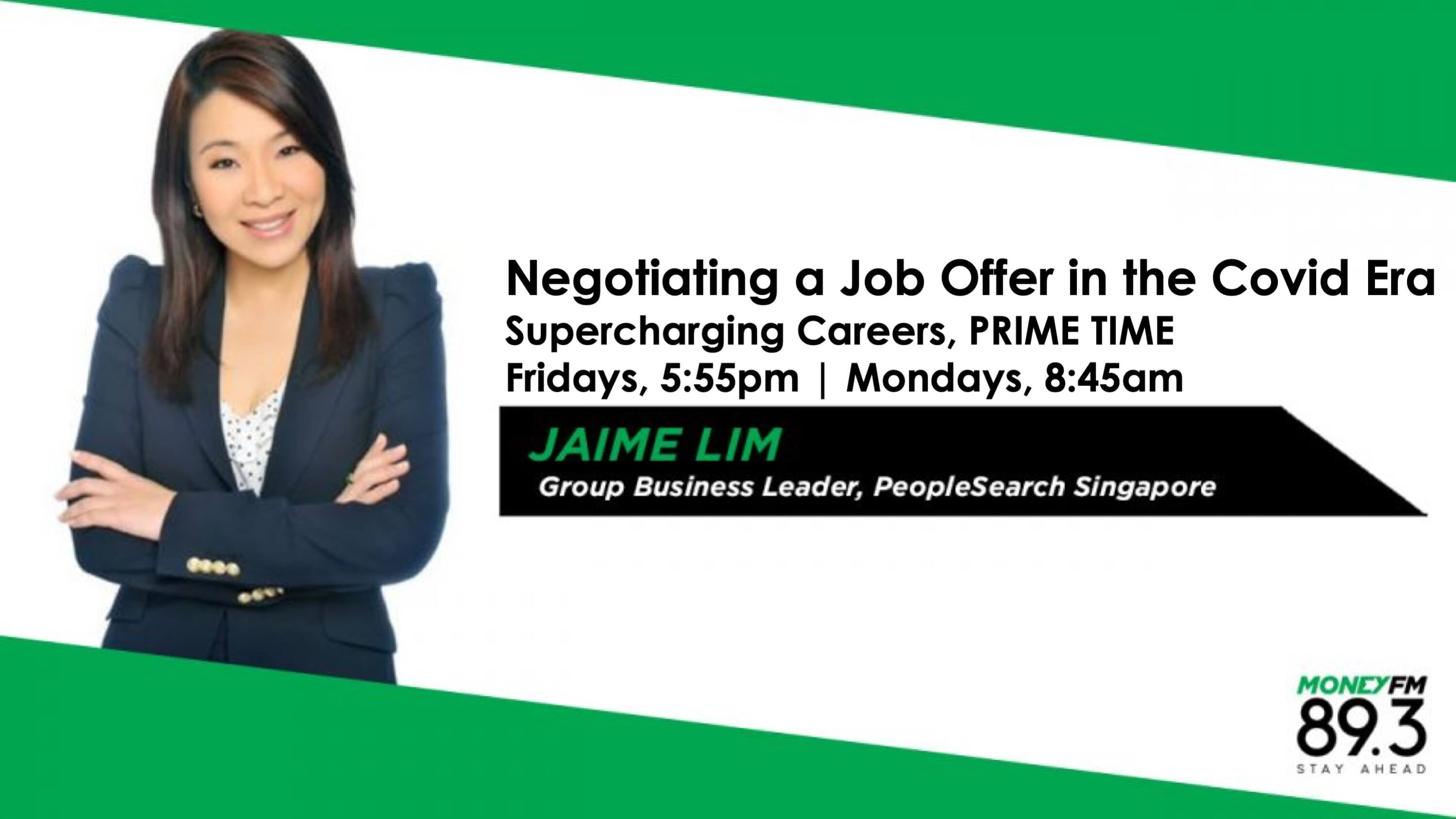 PeopleSearch Singapore's Jaime Lim on MONEY FM 89.3's Supercharging Careers banner