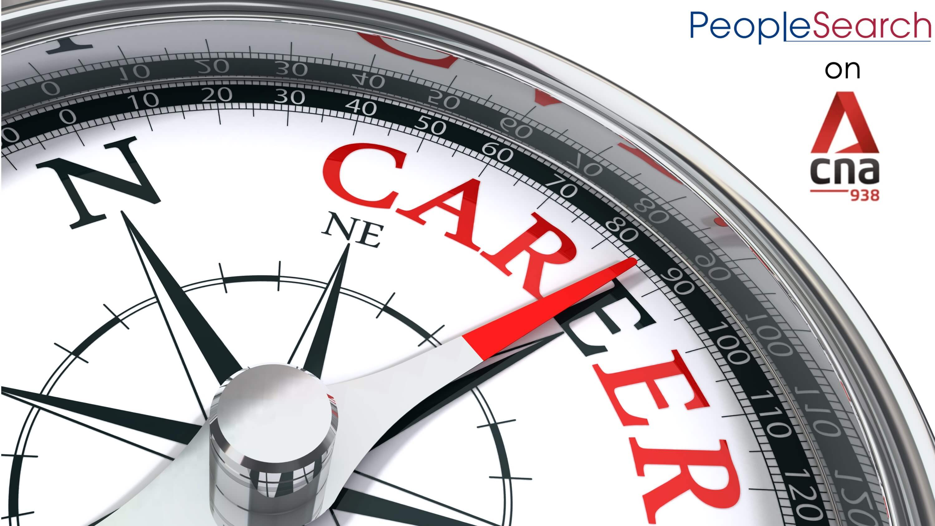 Graphic of career compass with CNA 938 and PeopleSearch logo